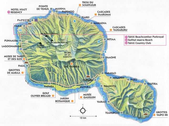Map Tahiti Mapa