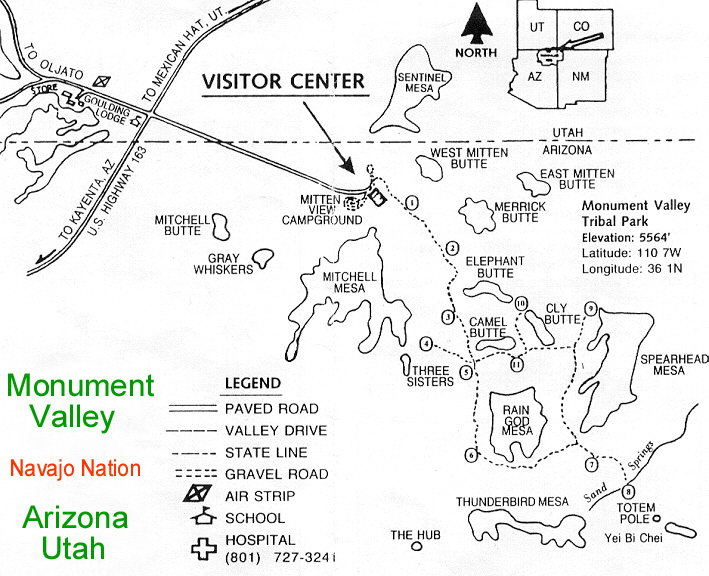 Map Of Arizona Monument Valley.Monument Valley Map Mapa Plan Plano Karte Carte Arizona Utah