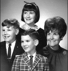 Susan Thompson Buffett + Peter + Howard + Susie 1965