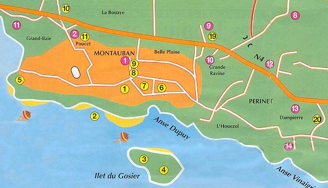 Pointe a Pitre plan plano Guadeloupe