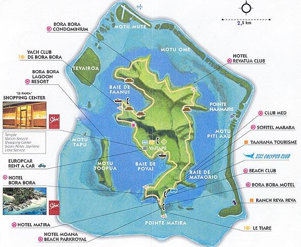bora bora mapa map Bora Bora mapa bora bora mapa